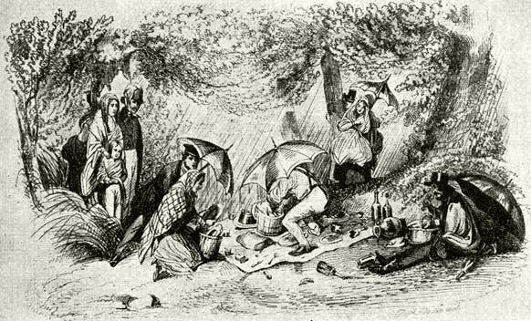 Kirándulók a budai hegyekben, 1847